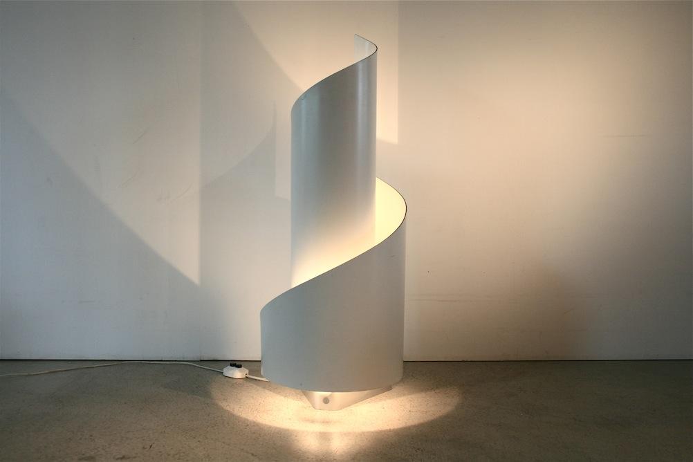 1960er spiral bodenlampe von novel team 5099 div. Black Bedroom Furniture Sets. Home Design Ideas