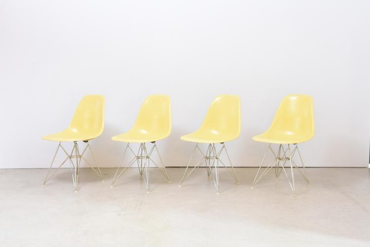 4er-, oder 6er-Set Eames Side Chair mit Zenitschalen, Herman Miller
