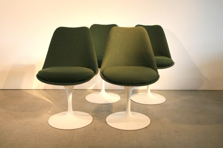 6er-Set Tulip-Saarinenstühle von Knoll International