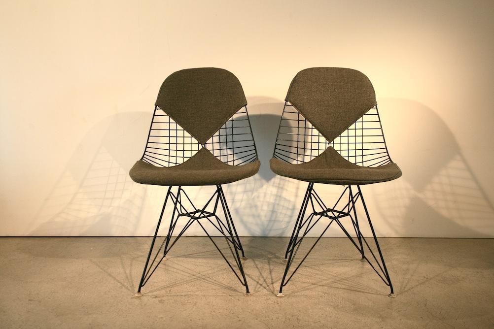 original 1960er bikini wire chair von eames 5060 div. Black Bedroom Furniture Sets. Home Design Ideas