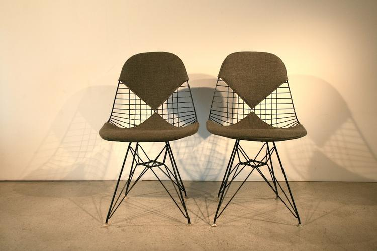 original 1960er bikini wire chair von eames 5060 div st hle stuhl timetunnel. Black Bedroom Furniture Sets. Home Design Ideas