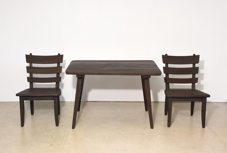 Tisch Mit 2 Stühlen Von Anliker Langenthal Gebeizte