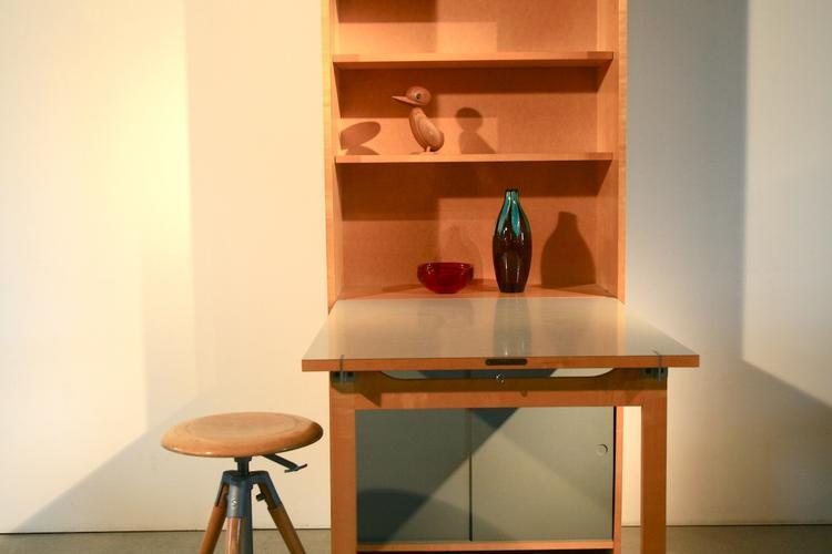 wohnhilfe gestell mit integriertem klapptisch 1950er. Black Bedroom Furniture Sets. Home Design Ideas